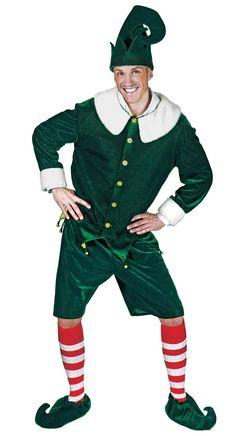 A christmas elf, all cheery