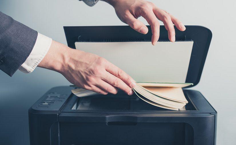 A Man, Copying a Book