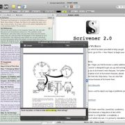 The interface of scrivener